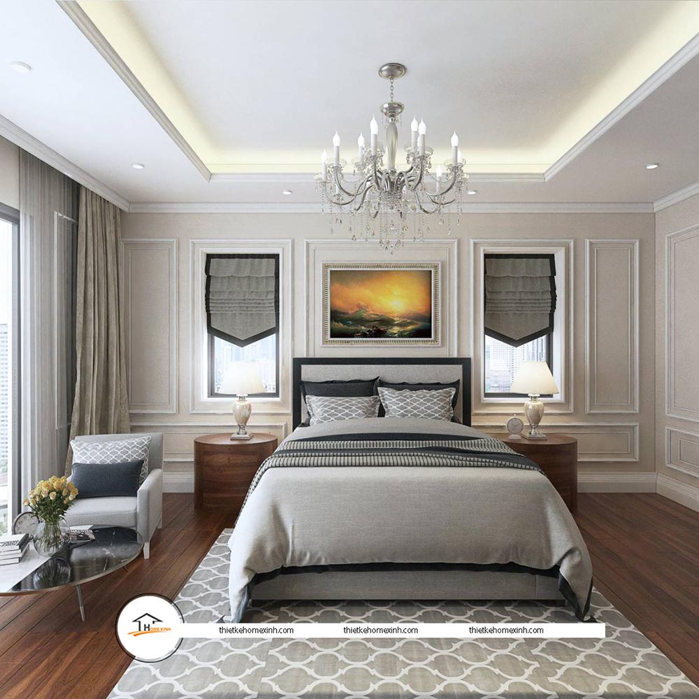 Thiết kế nội thất phòng ngủ hiện đại tại biệt thự Tiên Du, Bắc Ninh - 220124