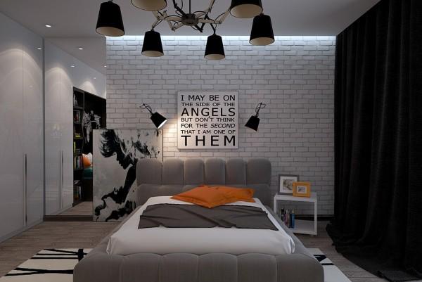 Phòng ngủ trẻ em được thiết kế với màu đen cá tính