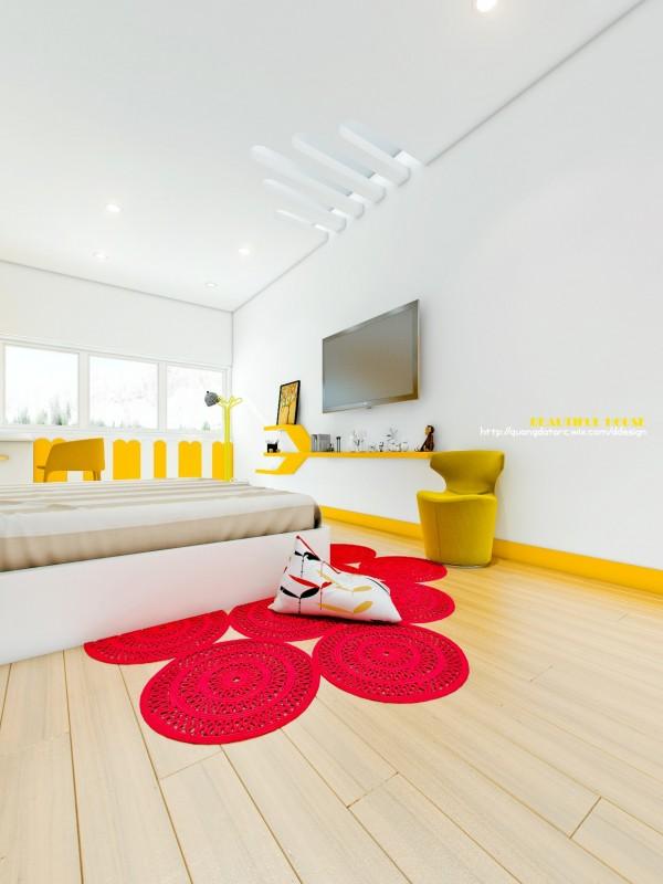 Phòng ngủ trẻ em vẫn được thiết kế đầy đủ tiện nghi đảm bảo sự phát triển bền vững của trẻ