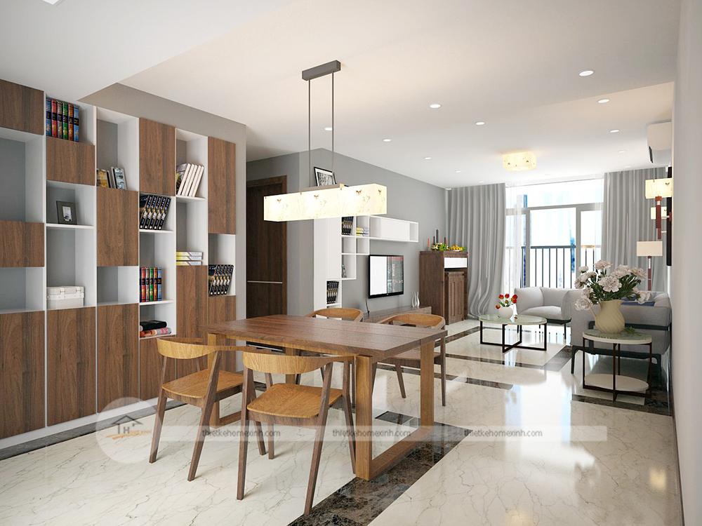 Thiết kế nội thất phòng khách tại căn hộ chung cư - Ảnh 03