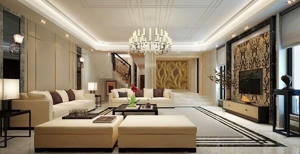 Kết quả hình ảnh cho thiết kế nội thất phòng khách sang trọng