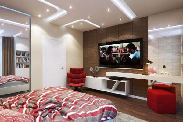 Mẫu nội thất phòng ngủ đẹp, đơn giản - Kệ tivi