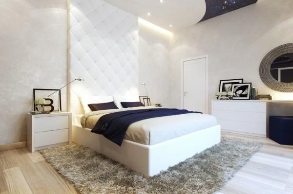 Mẫu nội thất phòng ngủ đẹp, đơn giản - Giường ngủ màu trắng
