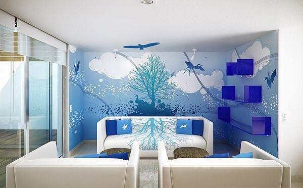 Thiết kế chung cư 80m2 phong cách biển xanh