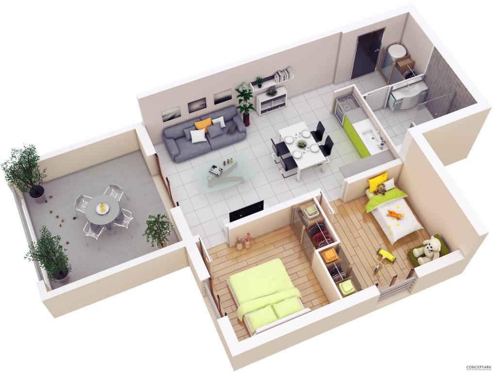 Thiết kế căn hộ trên mặt bằng góc