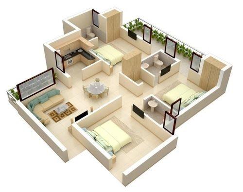Thiết kế căn hộ trên mặt bằng khác