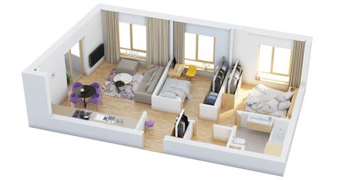 Mẫu thiết kế chung cư 90m2 đẹp 11