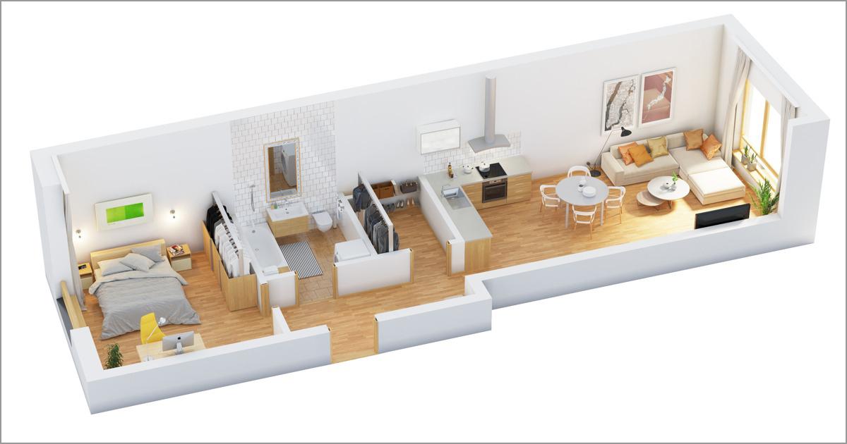 Mẫu thiết kế chung cư 90m2 đẹp 13