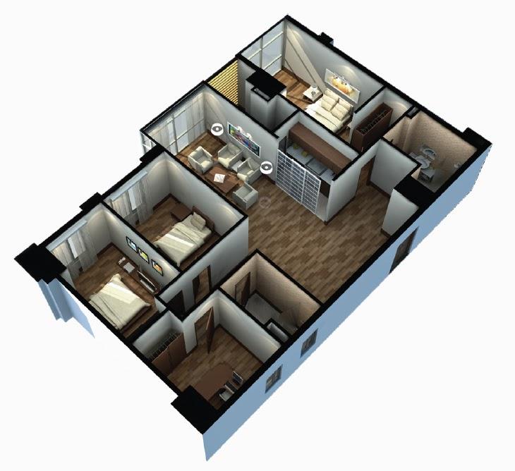 Mẫu thiết kế chung cư 90m2 đẹp 18