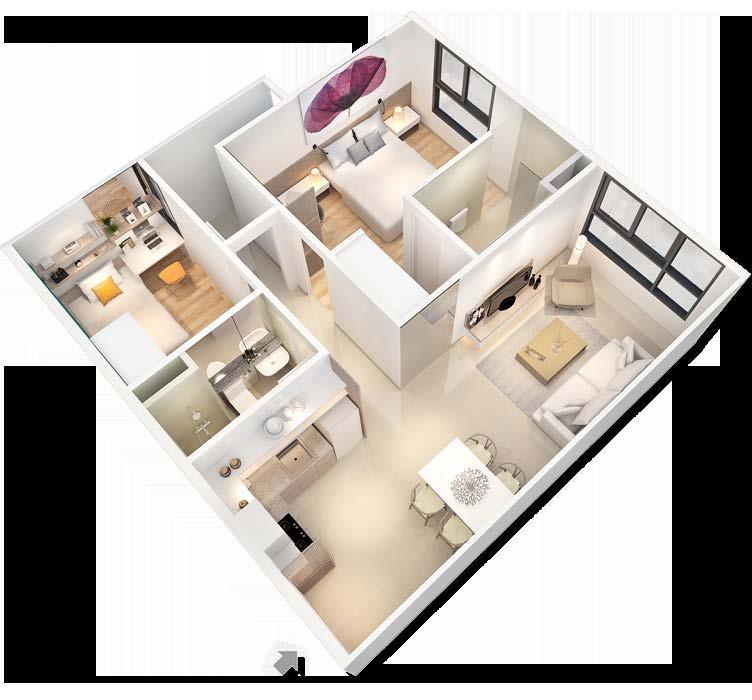 Mẫu thiết kế chung cư 90m2 đẹp 1