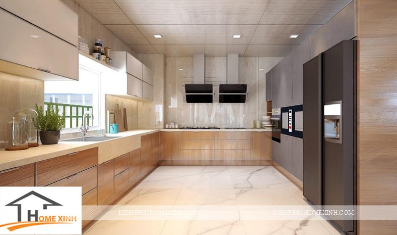 Thiết kế nội thất phòng bếp của ngôi biệt thự - Ảnh 01