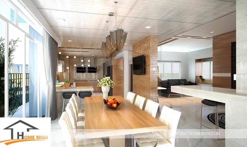 Thiết kế nội thất phòng ăn của ngôi biệt thự - Ảnh 01