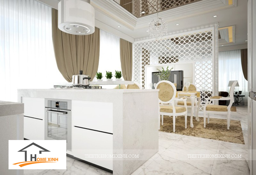 Nội thất phòng bếp biệt thự Hải Phòng - thiết kế homexinh