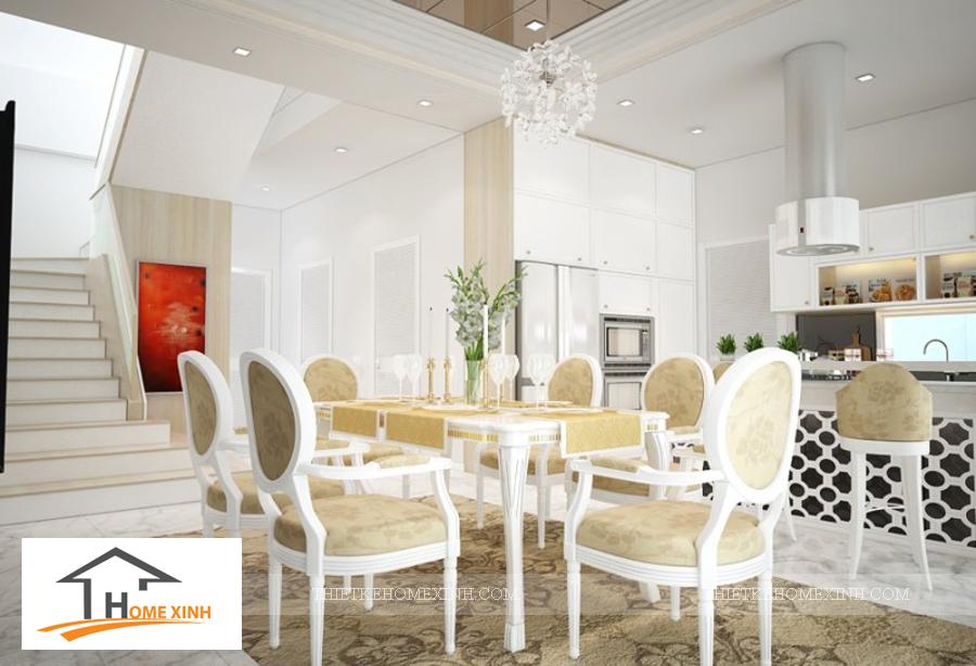 Nội thất phòng ăn biệt thự Hải Phòng - thiết kế homexinh