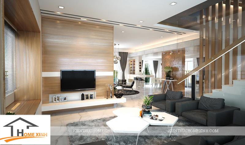 thiết kế nội thất phòng khách căn biệt thự - Ảnh 01
