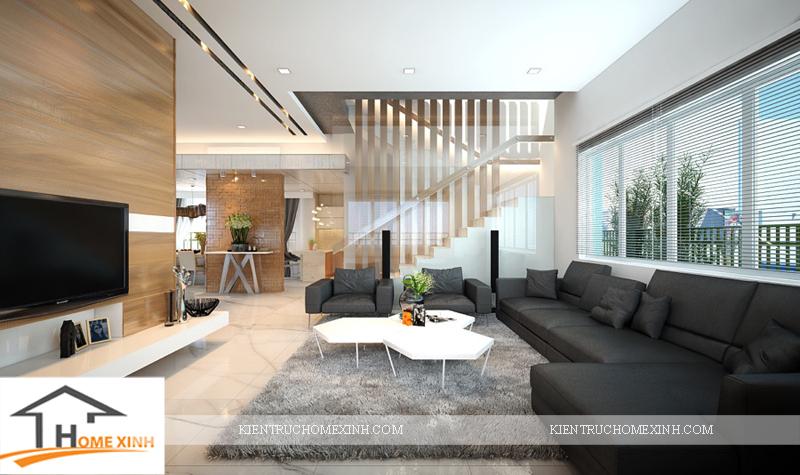 Thiết kế nội thất phòng khách căn biệt thự - Ảnh 02