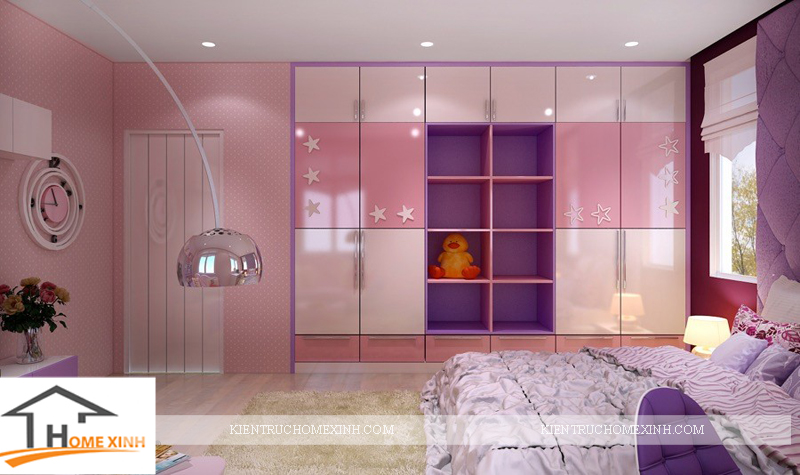 Thiết kế nội thất phòng ngủ bé gái - Ảnh 03