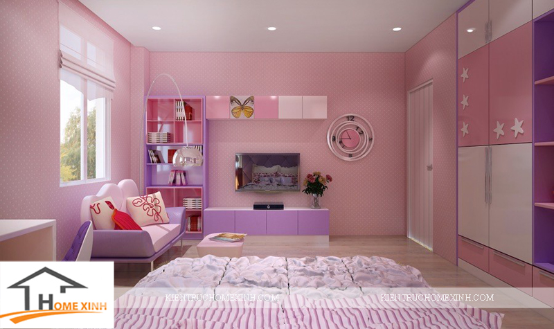 Thiết kế nội thất phòng ngủ bé gái - Ảnh 04