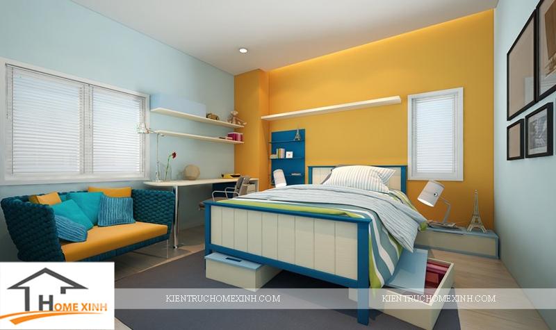 Thiết kế nội thất phòng ngủ con trai - Ảnh 01