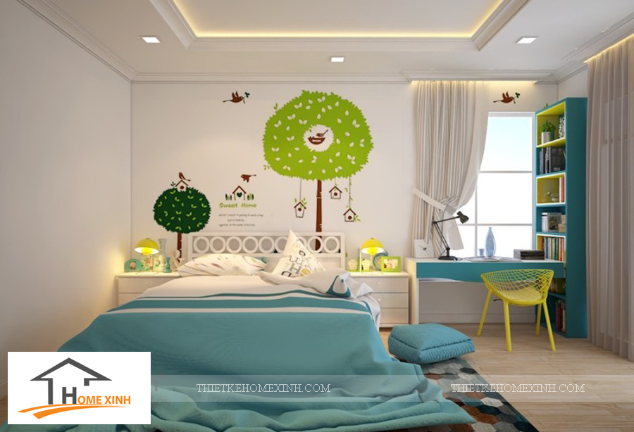 Nội thất phòng ngủ con gái biệt thự Hải Phòng - thiết kế homexinh