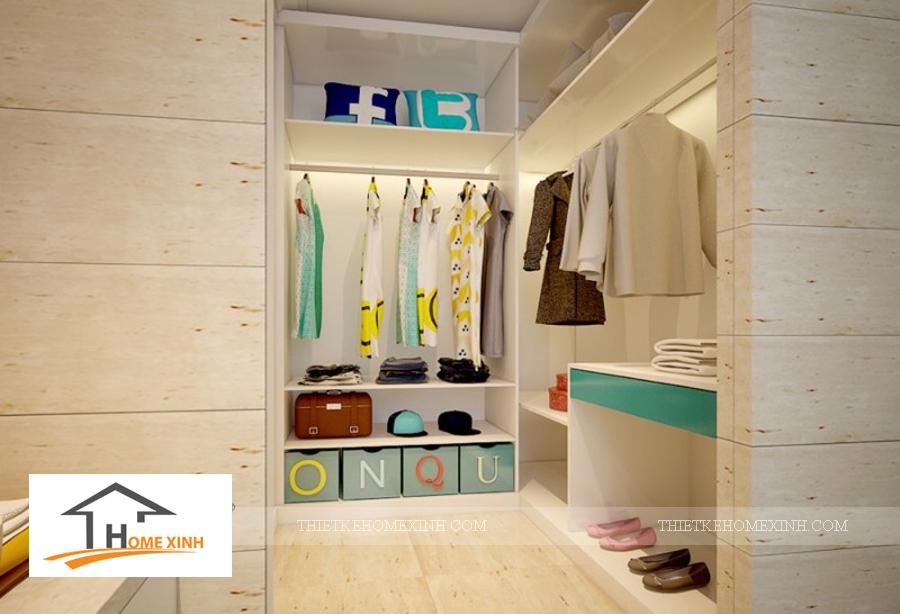 Phòng tắm trong phòng ngủ con gái biệt thự Hải Phòng - thiết kế homexinh