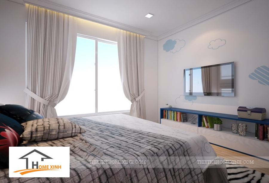 Nội thất phòng ngủ con trai biệt thự Hải Phòng - thiết kế homexinh