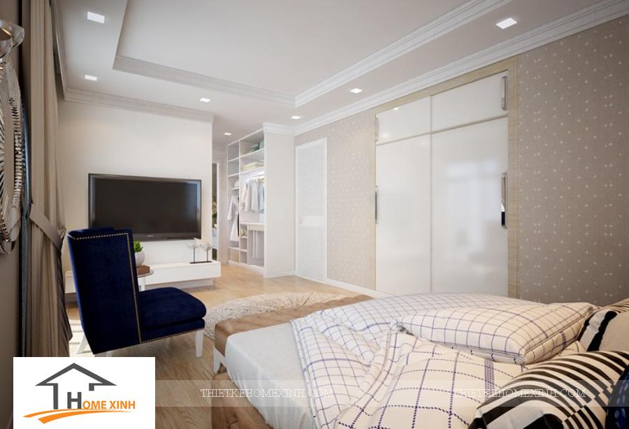 Nội thất phòng ngủ master biệt thự Hải Phòng - thiết kế homexinh