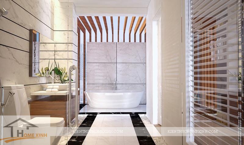 Thiết kế phòng vệ sinh cho phòng ngủ master - Ảnh 01