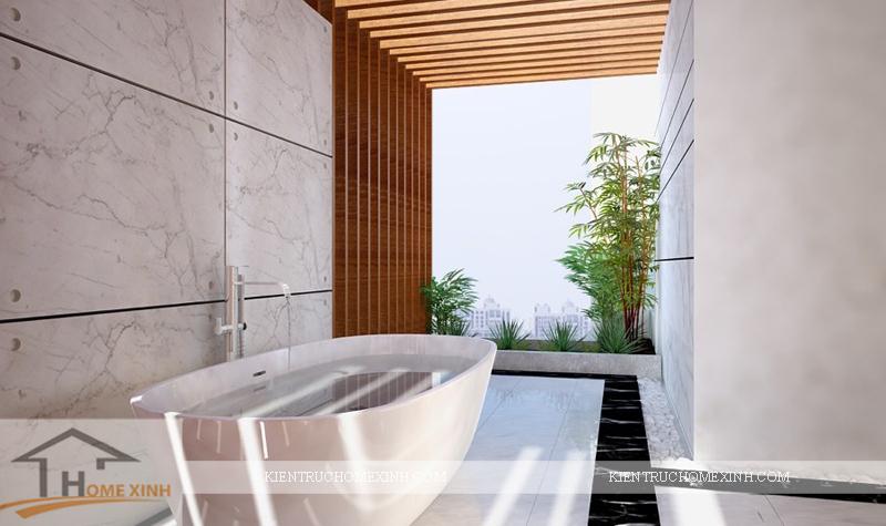 Thiết kế phòng vệ sinh cho phòng ngủ master biệt thự - Ảnh 09