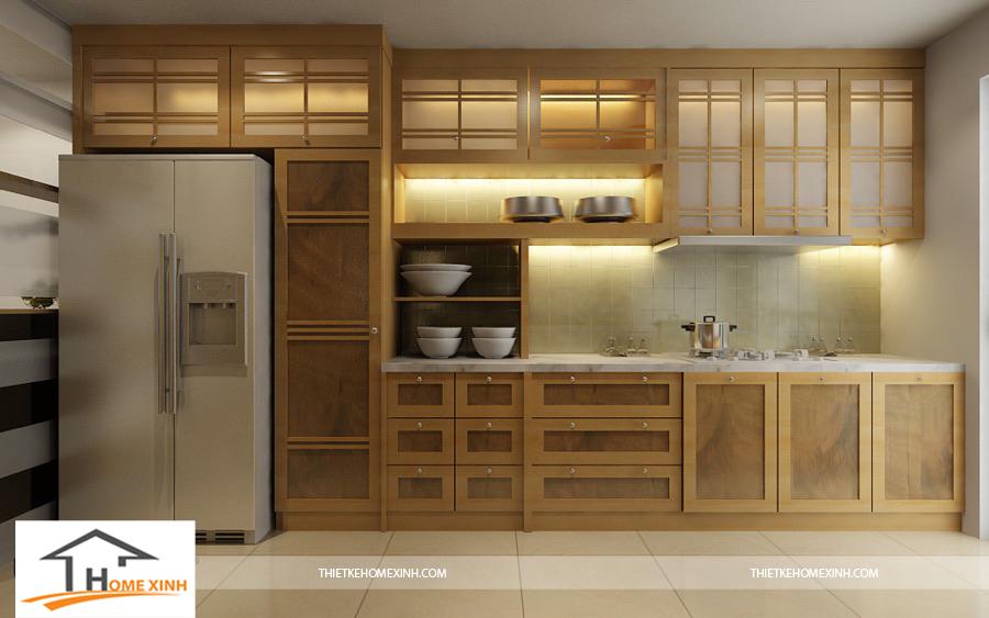 Cách bố trí phòng bếp tinh tế, mộc mạc