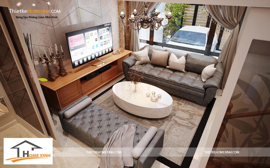 Phòng khách được thiết kế hoàn mỹ, sang trọng