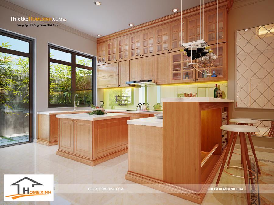Thiết kế phòng bếp với đầy đủ công năng