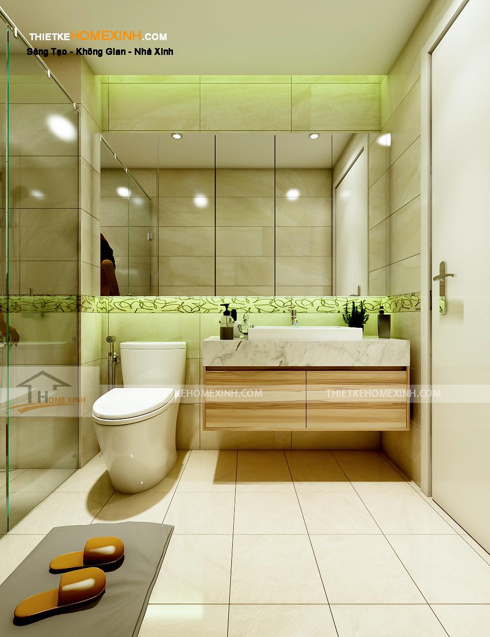 Phòng vệ sinh sạch sẽ