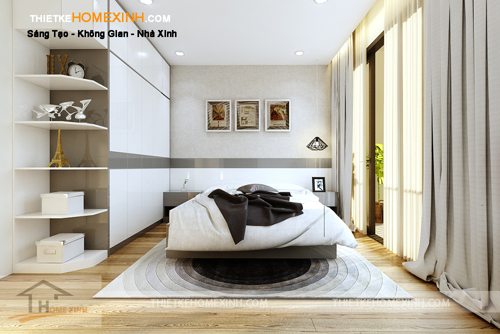 Không gian phòng ngủ thông thoáng