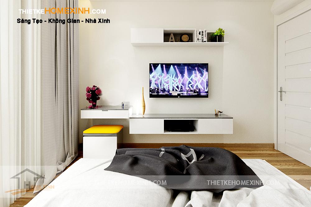 Thiết kế nội thất phòng ngủ rộng rãi, thông thoáng