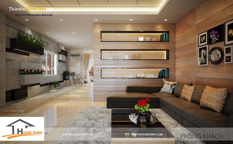 Thiết kế phòng khách đơn giản nhưng hiện đại