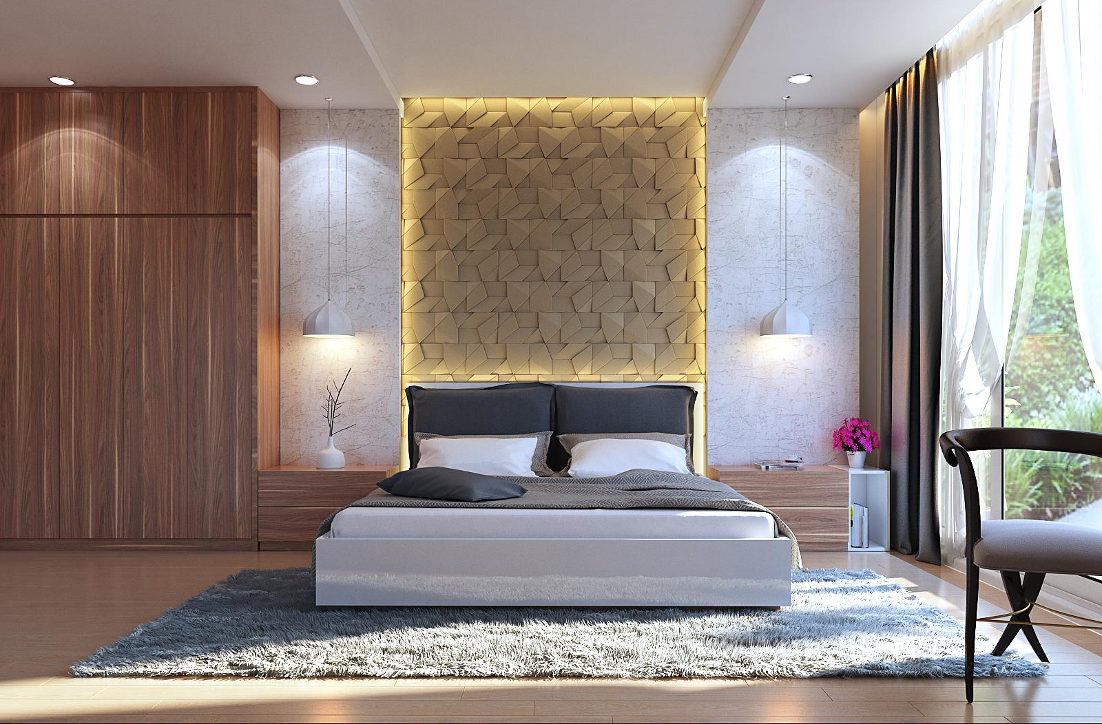 Thiết kế nội thất phòng ngủ đơn giản nhưng hiện đại