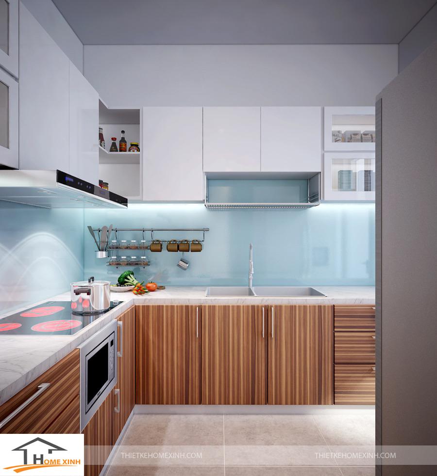 Thiết kế nội thất bếp được tính toán khoa học