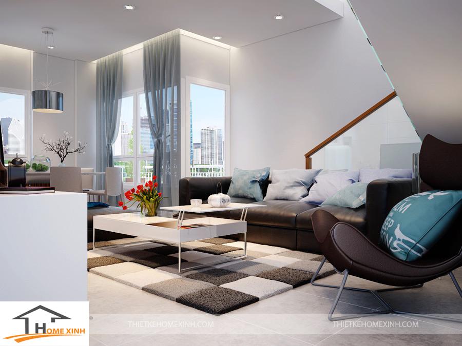 Thiết kế nội thất nhà phố 2 tầng tại khu đô thị mới Văn Quán