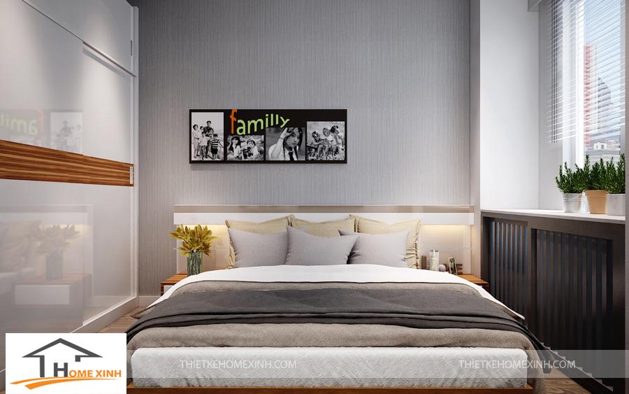 Phòng ngủ nhà phố thiết kế hiện đại, đơn giản