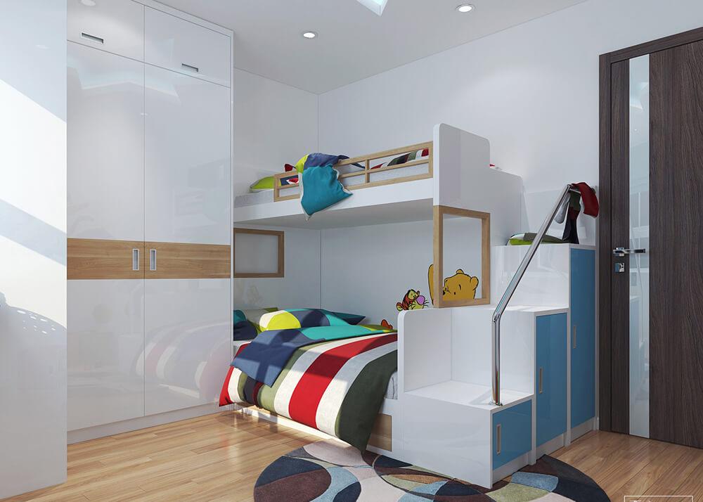 Giường tầng là điểm nhấn quan trọng của không gian