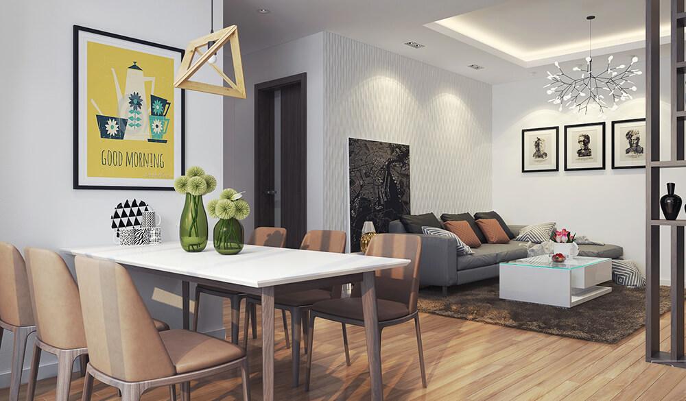 Không gian mở trong căn hộ chung cư