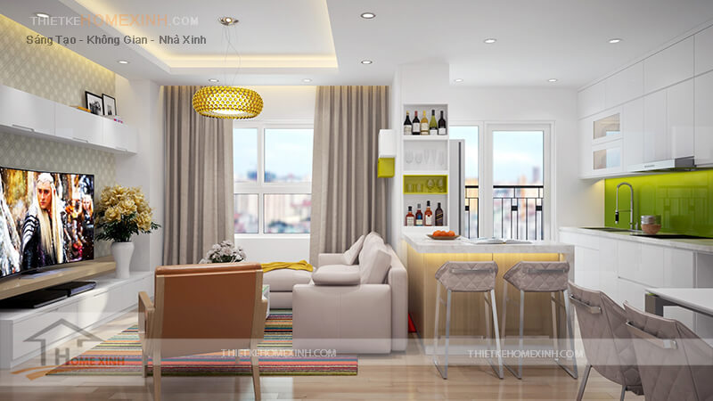 Mẫu thiết kế nội thất chung cư Lotus Lake View - 206951