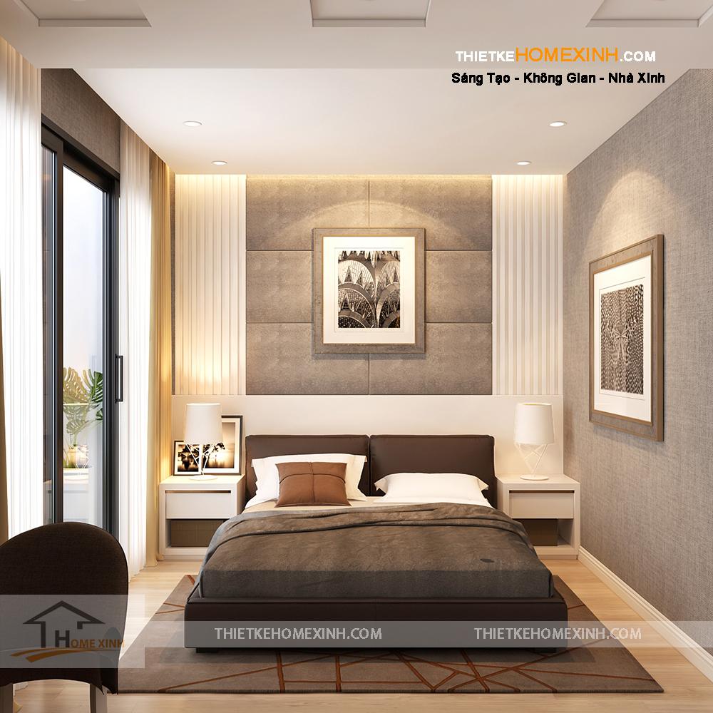 Thiết kế phòng ngủ đơn giản, sang trọng