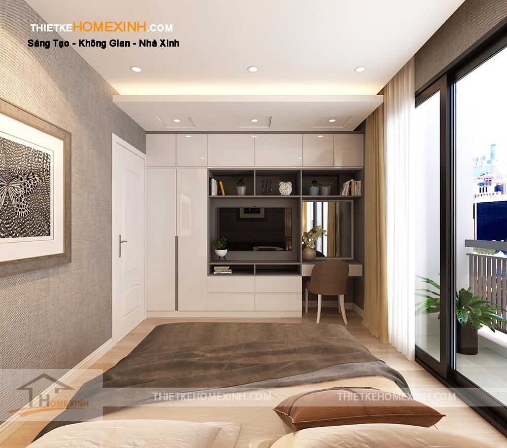 Phòng ngủ master độc đáo, hiện đại