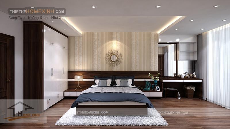 Phòng ngủ nhà phố sang trọng