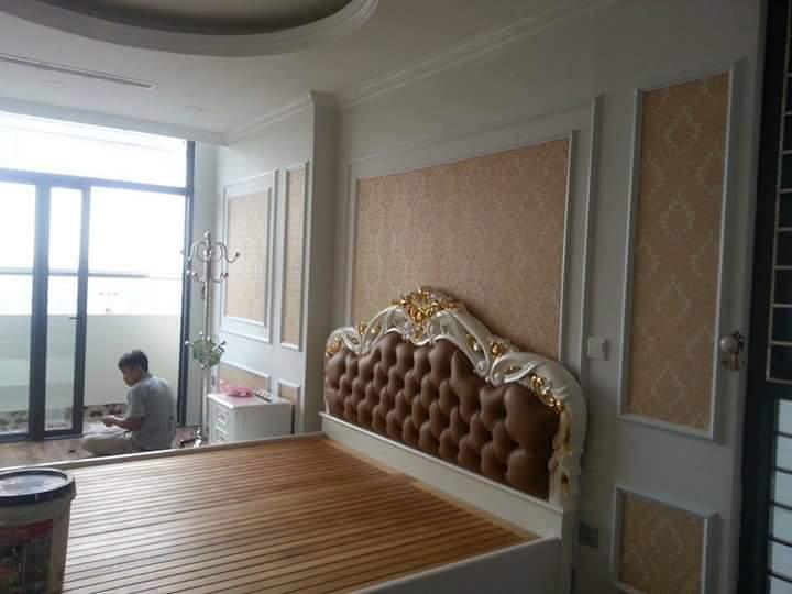 Thiết kế giường ngủ bằng chất liệu gỗ tự nhiên