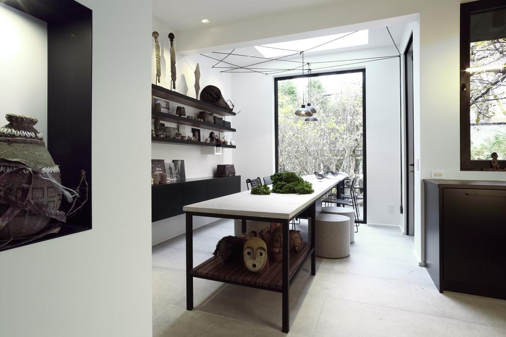 Không gian phòng bếp gần gũi với thiên nhiên