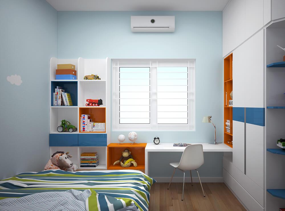 Không gian phòng ngủ trẻ em trẻ trung