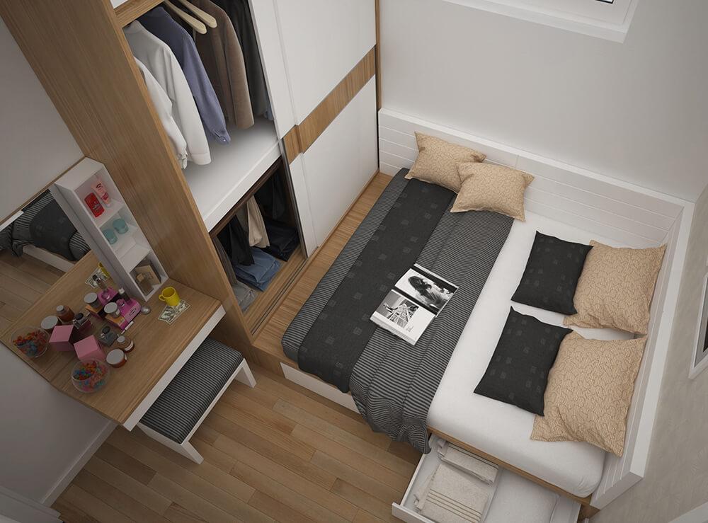Tổng quan không gian phòng ngủ chung cư